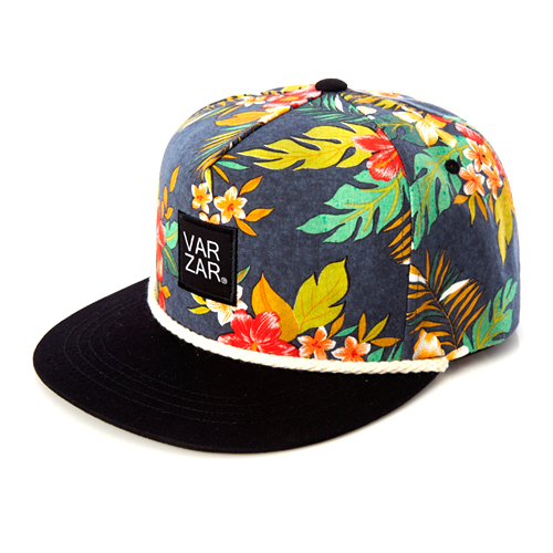 [바잘] flower pettern 5 panel cap black
