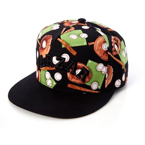 [바잘] sports baseball 5 panel cap black