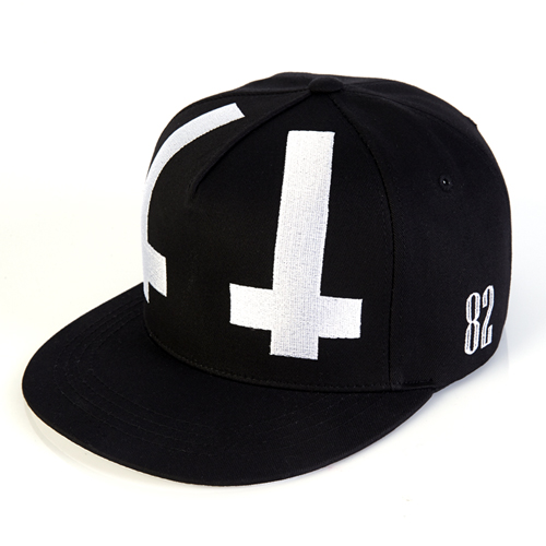 [바잘] under cross strapback black
