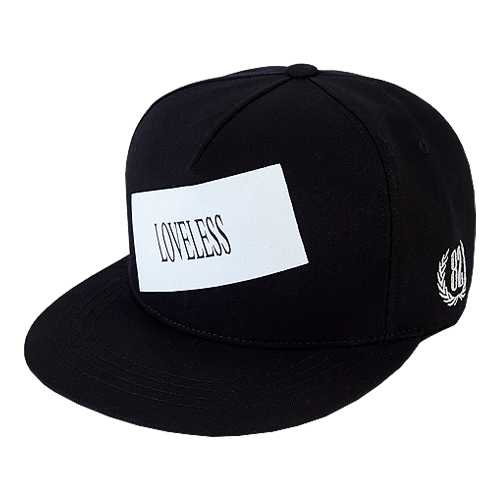 [바잘] loveless boxlogo snapback black