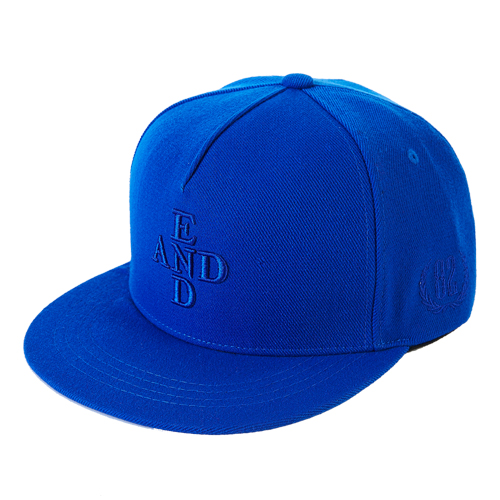 [바잘] end & and embroidery snapback blue