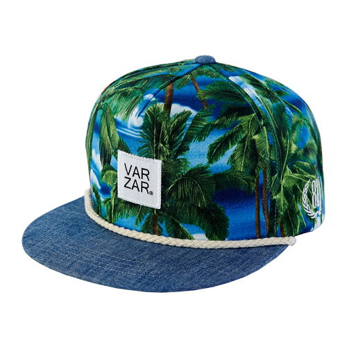[바잘] palm trees snapback blue