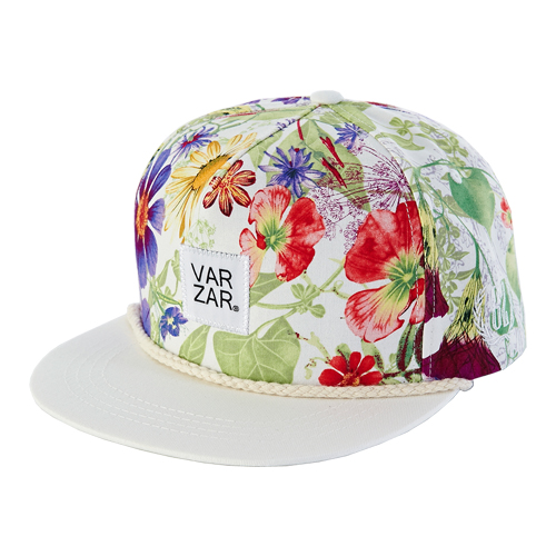[바잘] fling verity floral snapback White