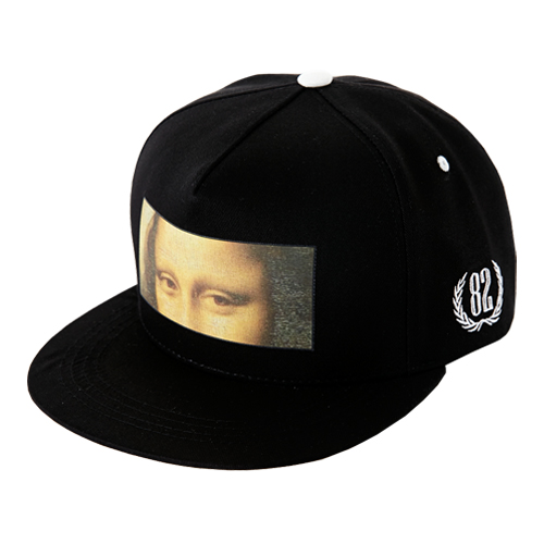 [바잘] hidden mona lisa snapback black