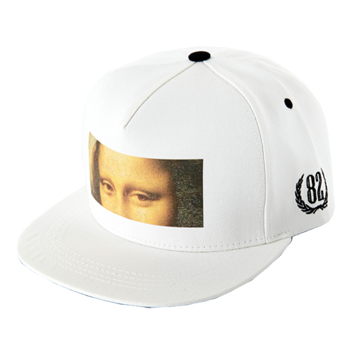 [바잘] hidden mona lisa snapback white