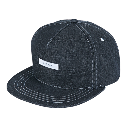 [바잘] minimal denim snapback black