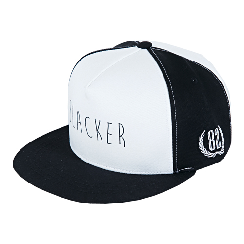 [바잘] blacker two tone snapback white/black