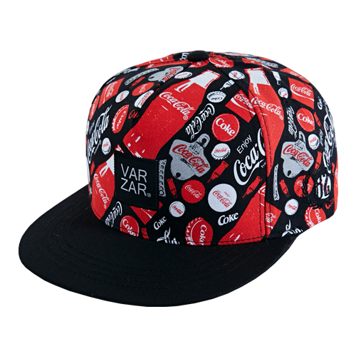 [바잘] coke pattern snapback black