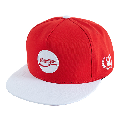 [바잘] coke varzar logo snapback red/white
