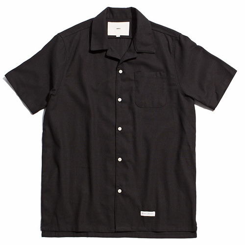 [제로] Hawaiian Linen Solid Shirts BLACK