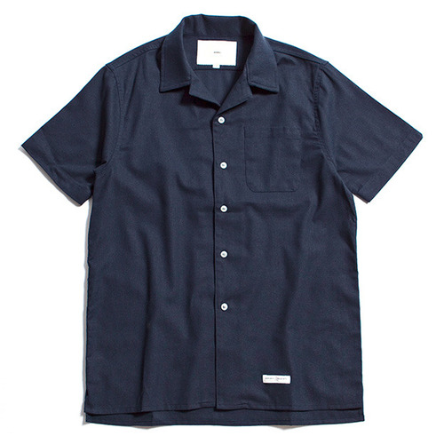 [제로] Hawaiian Linen Solid Shirts NAVY