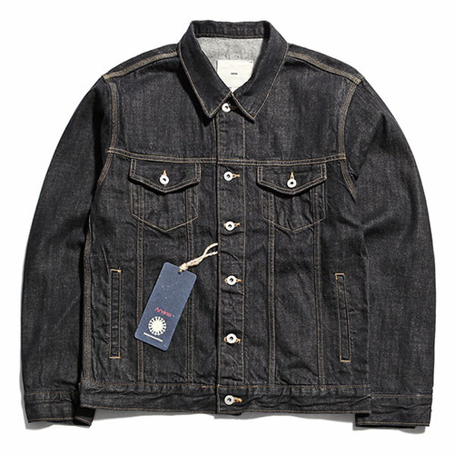 [제로]Oversized Denim Jacket  WASHED BLACK