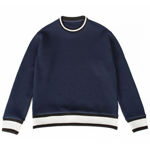 [레이지]PUFF CUSHION KINT SWEATSHIRTS NAVY