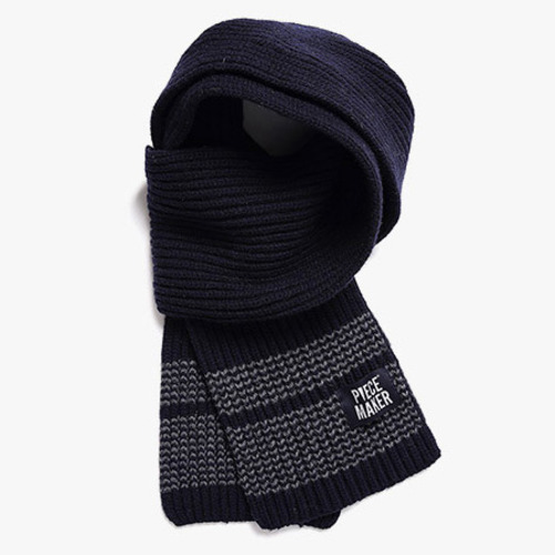 [피스메이커]STITCH WOOL MUFFLER (NAVY)