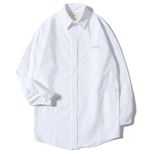 [제로]XERO - Solid Long Shirts WHITE