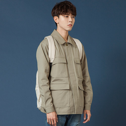 [시에스타] POCKET WORK JACKET [KHAKI]