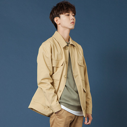 [시에스타] POCKET WORK JACKET [BEIGE]