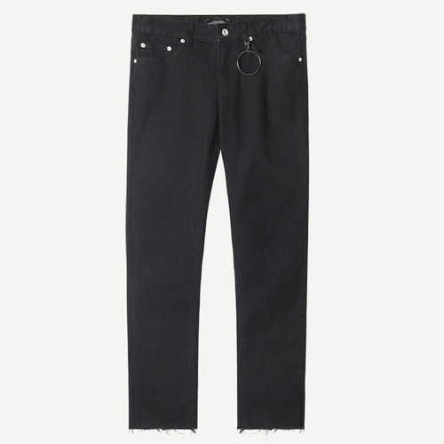 [모디파이드]M#1237 black cutted crop jeans