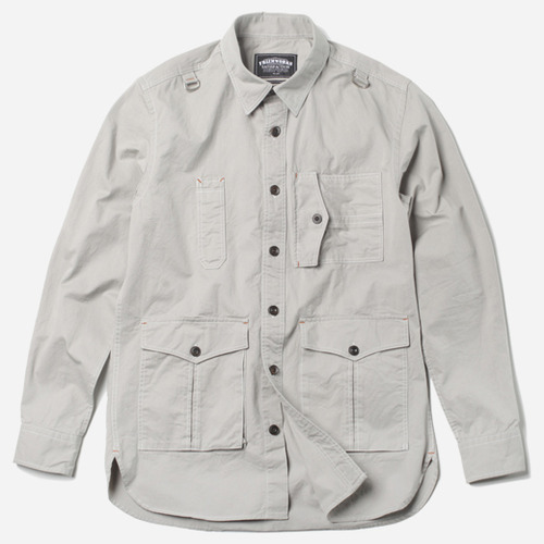[프리즘웍스]Safary shirt jacket LIGHT GRAY