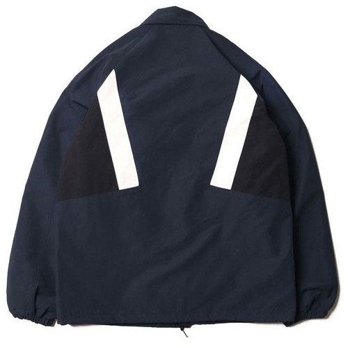 [레이지]COLOR LINE COACH JACKET NAVY