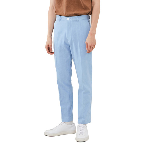 [모노소잉]Solid Denim Trouser (Light Blue)