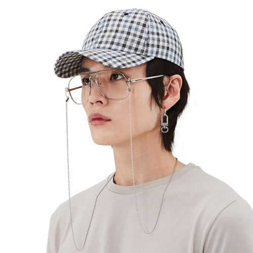 [모노소잉]pattern ball cap(Check)