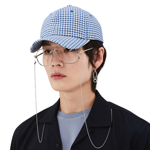 [모노소잉]pattern ball cap(Blue)