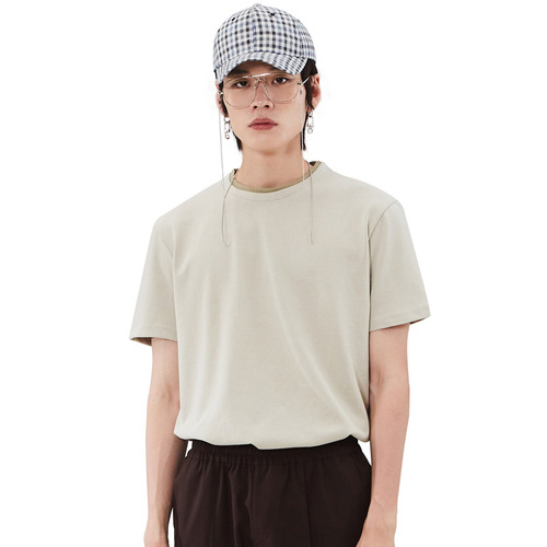 [모노소잉]Coloring Short Sleeve T-shirts(Light Khaki)