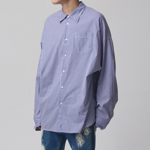 [테이크이지]PIN STRIPE OVER SHIRT