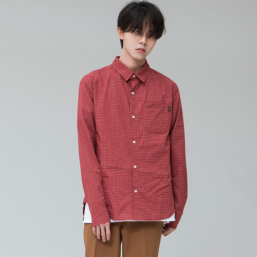 [시에스타]MINIMAL CHECK SHIRT [RED]