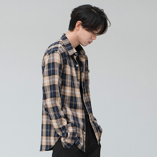 [시에스타]MIX CHECK SHIRT [BROWN]