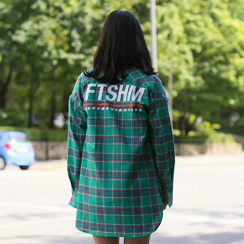 [패티즘]FTSHM CHECK SHIRT GREEN