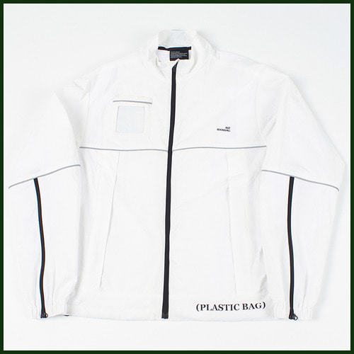 [노메뉴얼]plastic reflective jacket WHITE