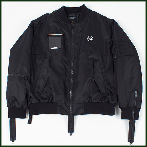 [노메뉴얼]thinsulate zip ma-1 BLACK