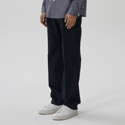 [모노소잉]SOLID WIDE TROUSER(NAVY)