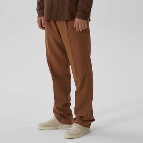 [모노소잉]COLOR WIDE TROUSER(DARK BEIGE)