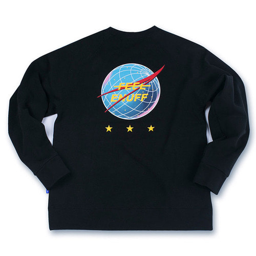 [필이너프]INTERNATIONAL CREWNECK BLACK