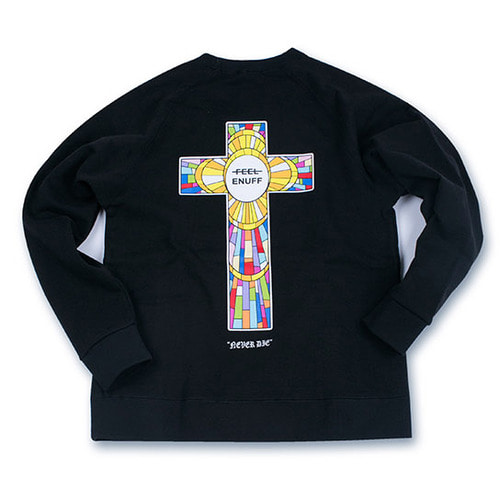 [필이너프]NEVER DIE CREWNECK BLACK