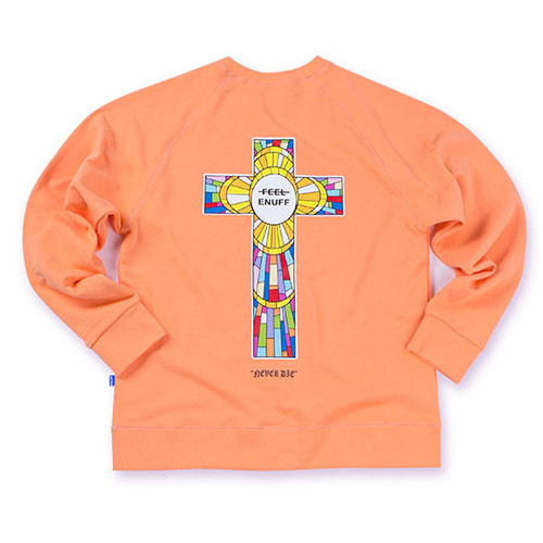 [필이너프]NEVER DIE CREWNECK PEACH