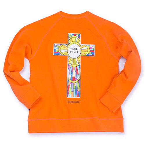 [필이너프]NEVER DIE CREWNECK ORANGE
