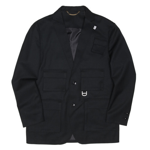 [두인마땡] UTILITY TAILORED JACKET (Black)
