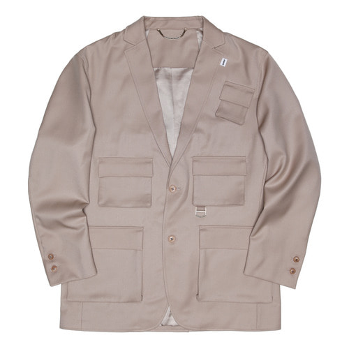 [두인마땡] UTILITY TAILORED JACKET (Beige)
