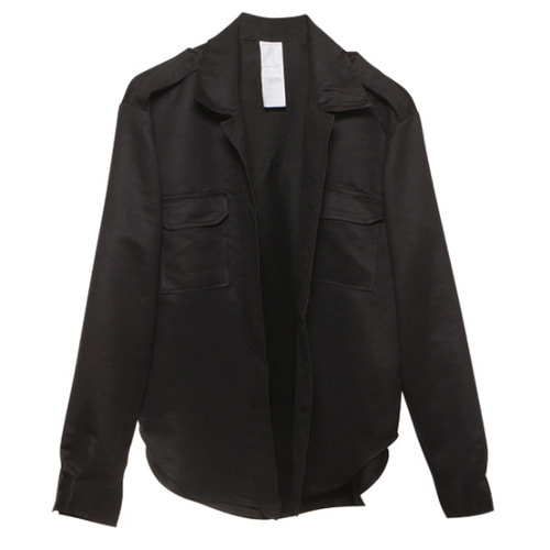 [뉴트럴] Black suede jacket with zipper