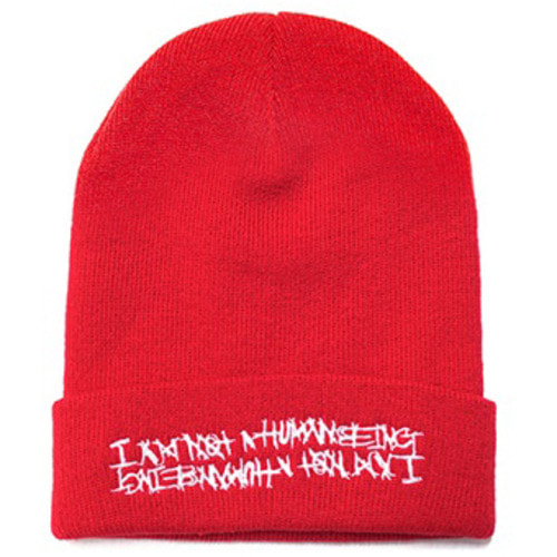 [아임낫어휴먼비잉][17W] Basic Logo Bell Beanie - Red