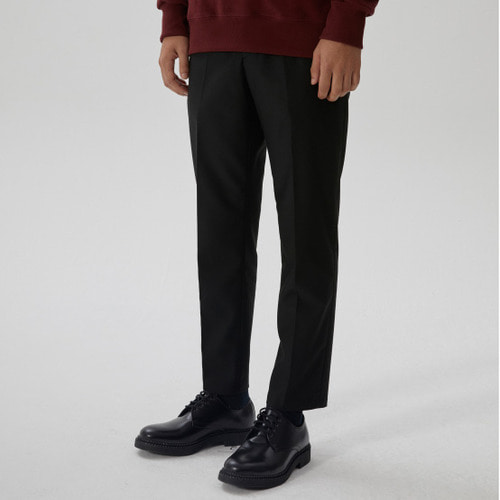 [모노소잉]WINTER SOLID SLIM TROUSER(BLACK)
