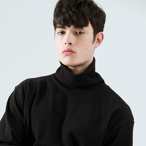 [시에스타] OVER TURTLENECK [BLACK]