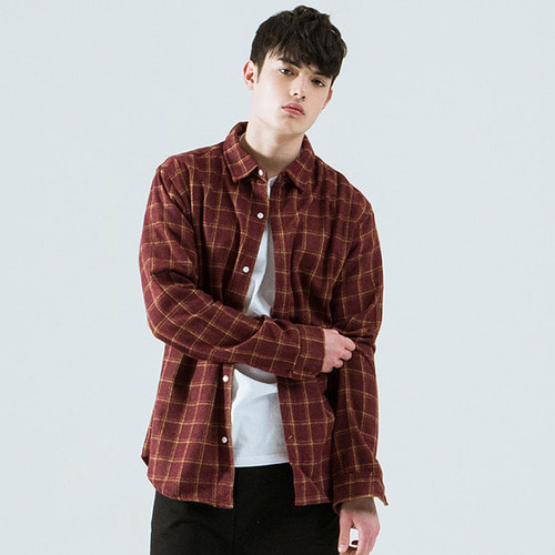 [시에스타] W MIX CHECK SHIRT [RED]