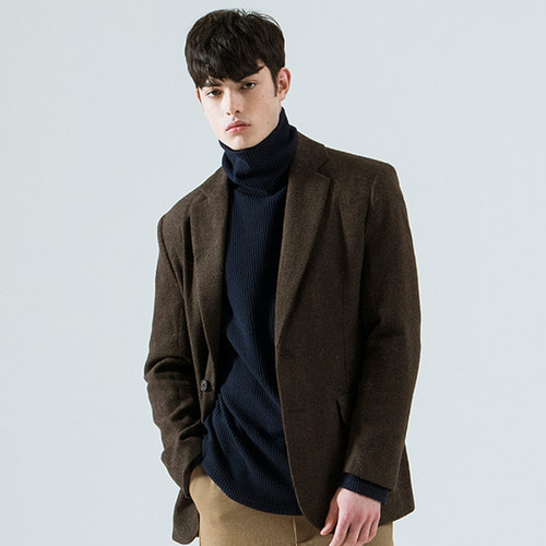 [시에스타] HERRINGBONE JACKET [BROWN]
