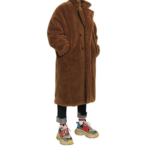 [데드엔드] BROWN FUR LONG COAT