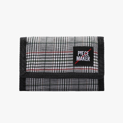 [피스메이커]VELCRO WALLET GLEN CHECK (GREY)